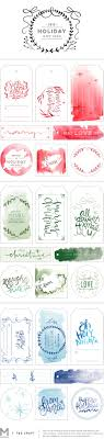 Gift Tag Design Ideas Watercolor Holiday Gift Tag Printables Mstetson Design