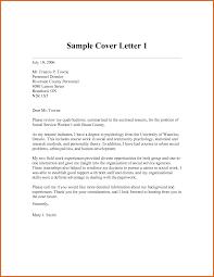 Cover Letter Of Social Worker Free Samples Shishita World Com