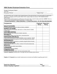 Appraisal Templates Simple Free Employee Evaluation Form It Resume Cover Letter Sample In