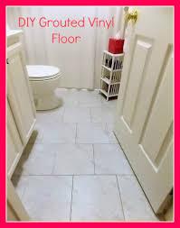diy grouted vinyl floor reveal and tutorial