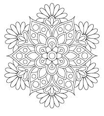Flower Coloring Pages Download Here Pint Here Simple Mandala Flower