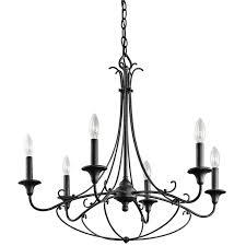 6 light chandelier kichler basel collection