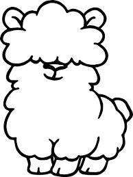 Small Picture Alpaca Cute Coloring Page Wecoloringpage