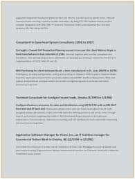 Sample Management Consulting Resume Outstanding Consultant Resume