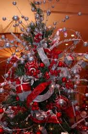 Soothing Silver Decorschool Decorations Tree Ornaments Victorian Red Silver And White Christmas Tree