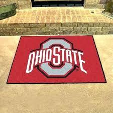 state football rug rugs buckeyes x all star area floor mat ohio university repeating logo s