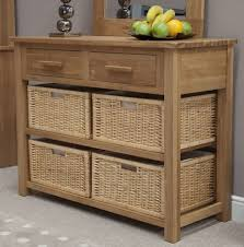 hall tables with drawers. Boston Console Hall Table With Baskets Solid Oak Hallway Furniture - Ebay Tables Drawers U