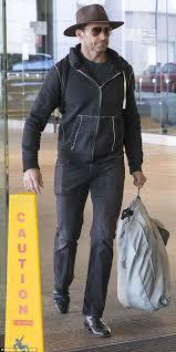 Hugh Jackman wears his favourite Akubra hat as he bids farewell to ...