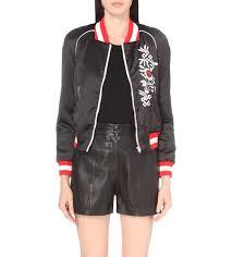 classic fit women s black coats jackets size m maje jackets bradley satin er