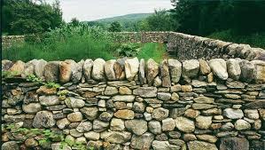 dry stone wall stone walls garden