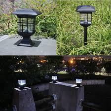 Solar Led Garden Lights Ebay Outdoor Solar Powered Led Garden Yard Bollard Pillar Light
