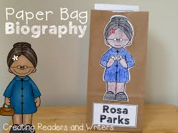 paper bag biography rosa parks a project for grades park  paper bag biography rosa parks a project for grades 1 2