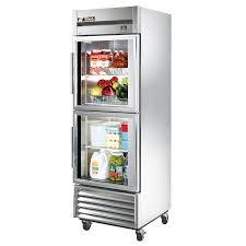 Glass Refrigerator True Ts 23g 2 Stainless Steel Single Section Glass Half Door Reach