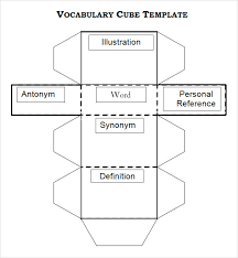 Cube Template Microsoft Word Sample Cube 8 Documents In Word Pdf