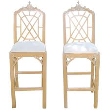 chippendale bar stool. Interesting Stool Vintage Pair Of Pagoda Bar Stools Fret Chinese Chippendale Chinoiserie For  Sale Inside Stool E