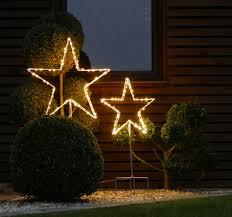 Stern Micro Led Warmweiß Drahtstern Weihnachtsstern Garten