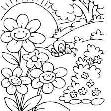 Spring Flower Coloring Pages Spring Flower Coloring Pages Free