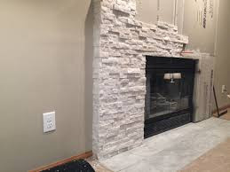 interior likable stone veneer over brick fireplace update with ideas refacing fireplace stone refacing