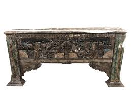 Vintage sofa table Queen Anne Amazoncom Mogul Interior Rustic Sofa Console Table Carved Deep Relief Wood Bohemian Reclaimed Vintage Furniture Kitchen Dining Amazoncom Amazoncom Mogul Interior Rustic Sofa Console Table Carved Deep