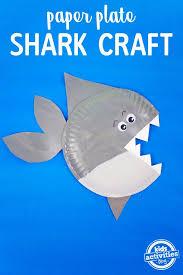 shark paper plate craft kids activities shark paper plate craft