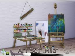 on the sims resource sims 3 wall art with buffsumm s mila art hobby set