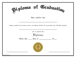 Diploma Of Graduation Free Printable Allfreeprintable Com