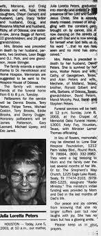 Obituary for Jufia Loretta Brooks - Newspapers.com
