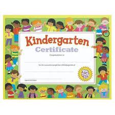 Kindergarten Certificate Kids Andersons