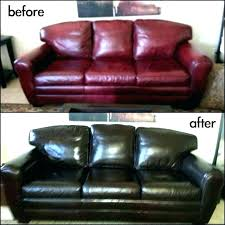 dyeing leather furniture sofa dye kit after she used rub n re couch nz leather furniture home dye couch color repair kit