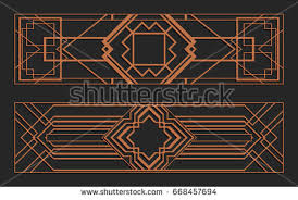 laser cutting set wall panels jigsaw die cut ornaments art deco cutout silhouette on die cut metal wall art with laser cutting set wall panels jigsaw stock vector 668457694