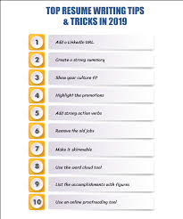 Tips On Writing Resume Top 17 Resume Writing Tips Tricks 2019 Resumeperk Com