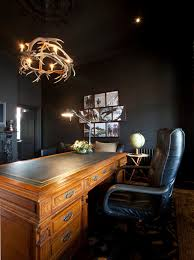 antler chandeliers home office contemporary with antique desk antler antler chandelier bamboo table black leather