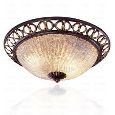 rustic glass shade 2 light wrought iron ceiling lighting