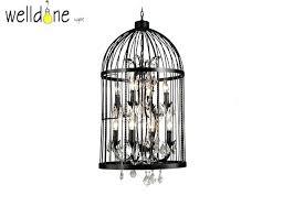 copper birdcage pendant light chandelier retro black decor vintage industrial bird cage lighting gorgeous with crystal