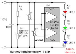 color led temperature indicator figure 1 schematic of color temperature indicator 2 leds