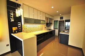 Small Picture Black and White Kitchen with 3G Glass as Cabinets Door