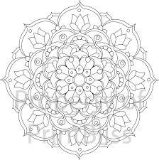 Flower Mandala Printable Coloring Page By