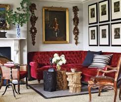 red velvet sofa. Make Your Space Even More Refined With An Exquisite Red Velvet Sofa On Chic Legs