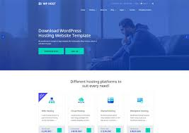 Website Template Stunning WPHost WordPress Hosting Bootstrap Website Template Ease Template