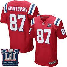 Patriots New Jersey Jersey Gronkowski England Championship Rob