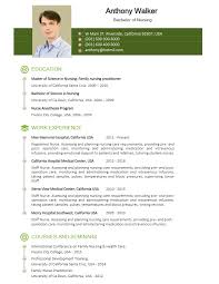 Medical Cv Free Nurse Resume Templates Cvexpress