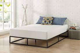 Zinus Joesph Modern Studio 10 Inch Platforma Low Profile Bed Frame / Mattress Foundation / Boxspring Optional / Wood slat support, Queen