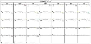 Printable Void Of Course Moon Monthly Calendars 2017 Void