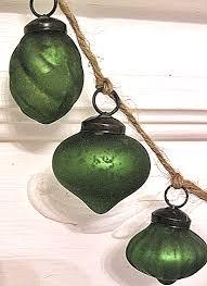pine green too copper gold mercury glass ornament garland