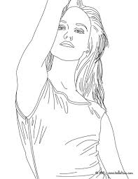 Vanessa paradis, french singer coloring pages - Hellokids.com