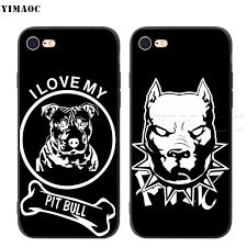 Yimaoc Pit Bull Pitbull Silicone Soft Case For Iphone Xs Max Xr X 8 7 6 6s Plus 5 5s Se