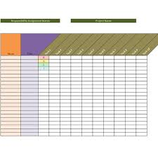 sample raci project management template responsibility assignment matrix template