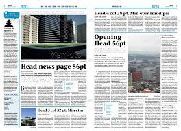 Newspaper Front Page Template Indesign Newspaper Layout Template Indesign Barca Fontanacountryinn Com