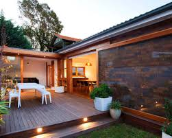modern house lighting. Modern House With Outdoor Low Deck Featured Lights : Decks For Great Additions Lighting E