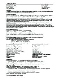 Resume Format For Experienced Mechanical Design Engineer Resume